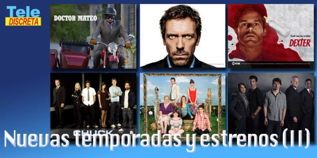 Temporadas House, Dexter, Doctor Mateo, The Event, Aída y Chuck