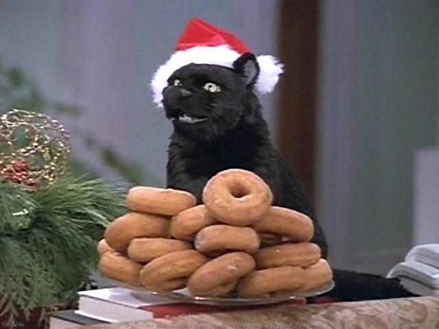 Salem Sabrina rosquillas, donuts, navidad