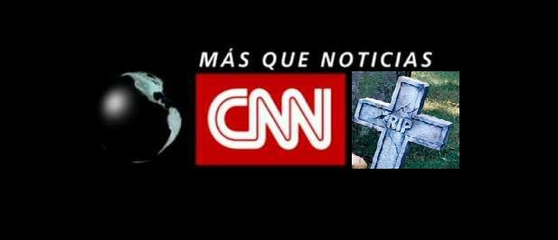 Logo de CNN con cruz muerta RIP